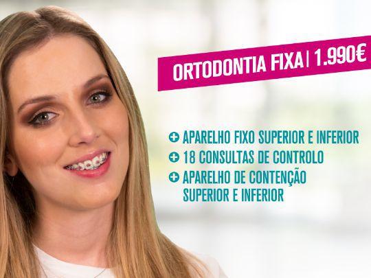 Sorria com confiança! Ortodontia Fixa por 1.990€